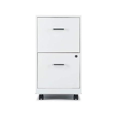 Staples 2806767 2 Drawer Vertical File Cabinet Locking Letter
