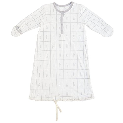 TEALBEE: Unisex Sleepgown for Baby Girl & Boy - Bamboo & Cotton Nightgown With Foldable Hand Covers And Snap Buttons - Newborn & Infant Sleepwear/Pajama (0-6 months, Drawstring) (Neck Stage 3 Standard)