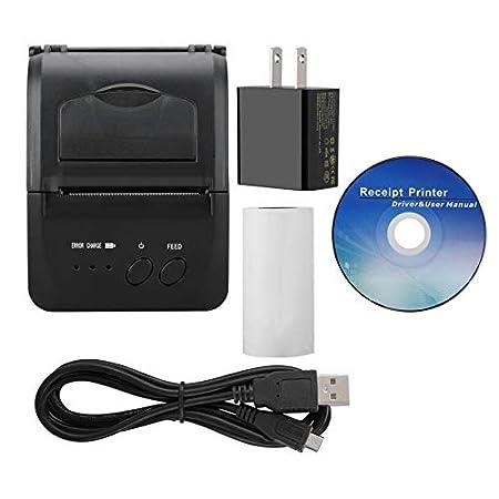 QWERTOUY Mini 1 a 8 de la Impresora térmica de Bluetooth WiFi USB ...