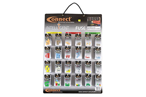 Connect - 37130 LED Blade Fuse Wall Rack Complete with 144 Blisters