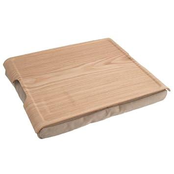 Bosign Laptray Natural, badeja sobre acolchado cojín en color arena y medidas 46 x 38
