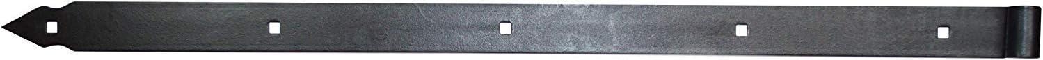 Ladenband Set mit Kloben 1500 x 60 x /Ø20 Schwarz Ladenb/änder Torband T/ürband T/ürb/änder