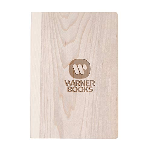 Webpack Icon (Maple Wood) Wooden Notebook - Eco-Friendly Natural & Premium Thick Paper - Sketchbook Rustic Wood Wedding Guest Book