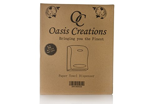 Oasis Creations Touchless Wall Mount Paper Towel Dispenser, Hold 500 Multifold Paper Towels by Oasis Creations (Image #4)