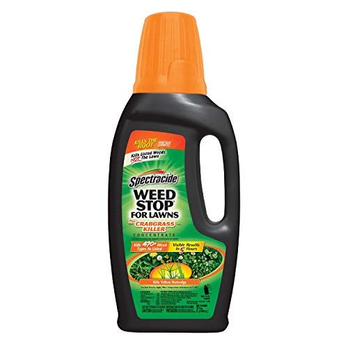 Spectracide 511072 Weed Stop For Lawns + Crabgrass Killer Concentrate, 32-Oz, Brown/A