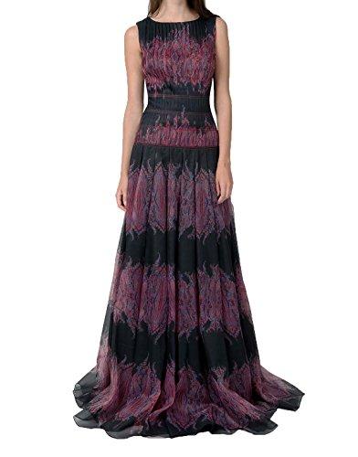Tadashi Shoji Women's paisley printed Gazar Gown, Black/Red Size (Tadashi Pleated Dress)