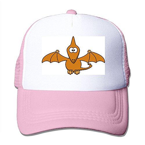 Dino Prehistoric Cartoon Funny Wings Fly Big Foam Mesh Hat Mesh Back Adjustable Cap