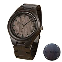 Engraved Watches for Him Wood Men Watch Groomsmen Gift Watches Personalized Wedding Gifts Free Engraving