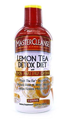 Master Cleanse Water - DietWorks Master Cleanse Lemon Tea, Detox Formula, 8 servings