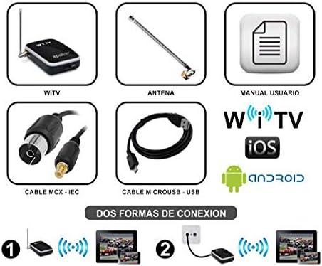 MyGica® mobile Receptores de TDT sintonizador de TV inalámbrico y móvil para DVB-T -Para iPhone / iPad / Android Teléfono inteligente / tablet - reloj ...