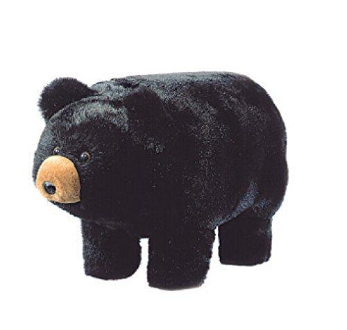 Bear Footstool - Carstens Midnight Black Bear Ride-on Footstool