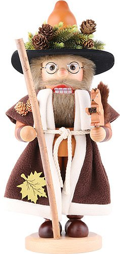 Nutcracker Forest man with squirrel natural - 41,5cm / 16.3inch - Christian Ulbricht