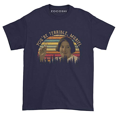 Zocoshi Men's You're Terrible, Muriel T-Shirt (2XL, Navy)