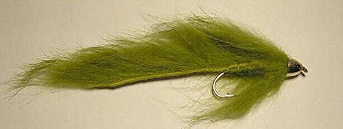 (Fly Fishing Flies Conehead Bunny Zonker Olive #2 Zonkers Streamers/Fly Fishing Lures Strong Fishing Hook Flies For Trouts)
