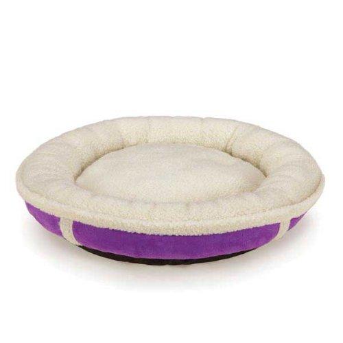 Slumber Pet Sherpa Donut Pet Bed, X-Large, Ultra Violet