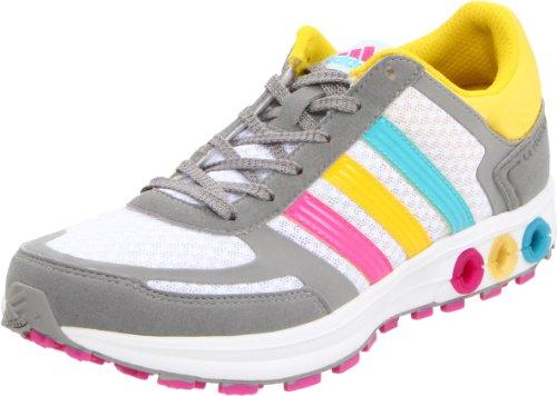 adidas Women's La Trainer W Running Shoe,Running White/Wonder Glow/Shift Grey,5.5 C US