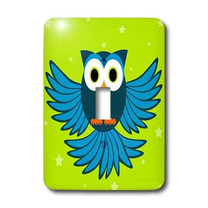 3d Rose 3dRose LLC lsp_20373_1 Cute Blue Flying Owl Under...