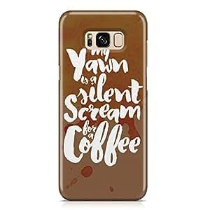 Samsung Galaxy S8 PlusCase scream for coffee Unique design Favourite Tv shows Samsung Samsung Galaxy S8 PlusCover Wrap Around