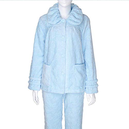 Un Mujeres Pijama Manga Invierno Ropa Ocasional Bolsillos Conjunto Fashion Dormir Larga Batas Elegante Espesar Pantalones De Casuales Sólido Con Color Mujer C Solo Pecho Otoño xWRnfH