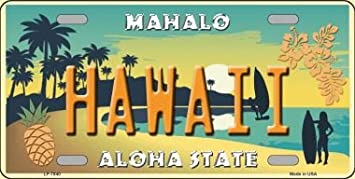 Hawaii Souvenir License Plate Island Hula Honeys Welcome to the Islands