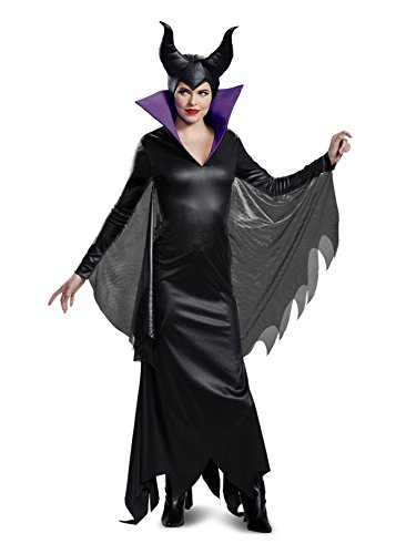 Disguise Women's Maleficent Deluxe Adult Costume, Black, L (12-14)