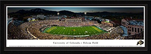 Colorado Buffaloes Football - 50 Yard - Blakeway Panoramas College Sports Posters with Select Frame