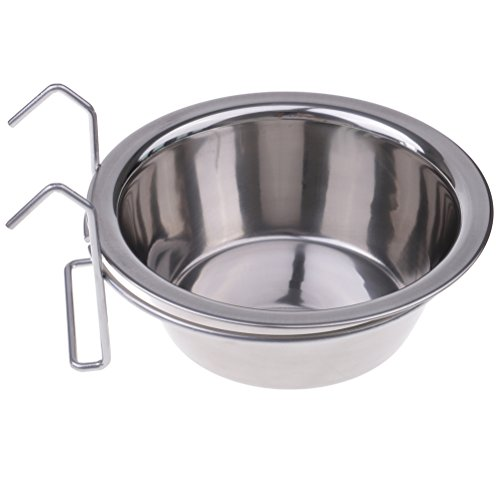 Cage Cage General Cat (Ziitai Stainless Steel Dog Pets Bowls Cage Crate Non Slip Hanging Food Dish Water Feeder Bowl Hooks)