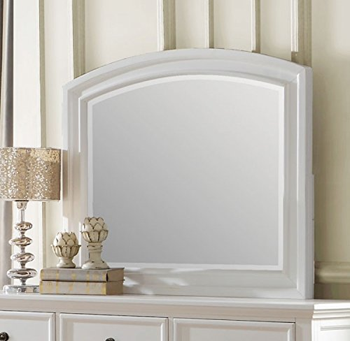 - Laurelin Mirror w/Solis White Frame by Homelegance