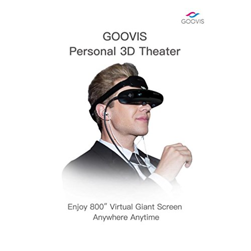 """21a4a9458bc GOOVIS Virtual Reality Travel 3D Theater VR Glasses 800"""" HD Giant Screen  Advanced HD 4K Sony OLED Micro display with Resolution 1920x1080x2"""