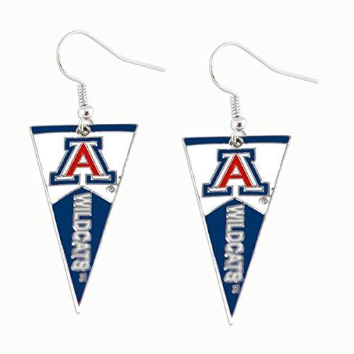 aminco NCAA Arizona Wildcats Pennant Dangle Earring Set