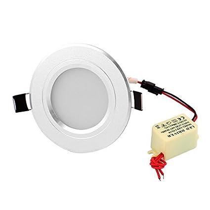 DealMux 6 LEDs de teto para baixo do ponto de lâmpada AC 85 ~ 265V 3 ~ 5W w LED Driver Luz Branca Pura - - Amazon.com