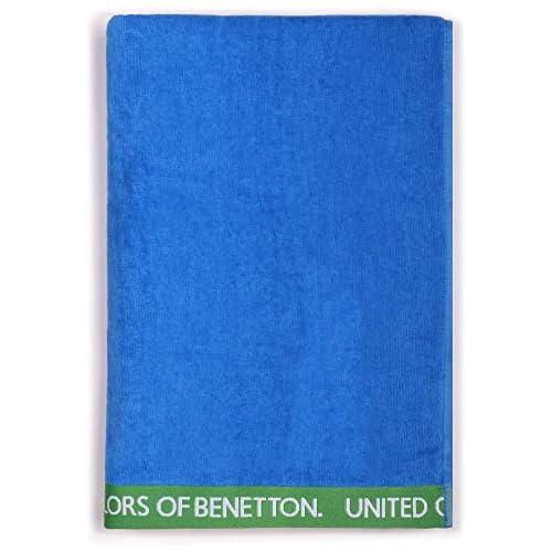 chollos oferta descuentos barato UNITED COLORS OF BENETTON Toalla de Playa 90x160cm 380gsm Velour 100 algodón Azul Casa Benetton 90x160