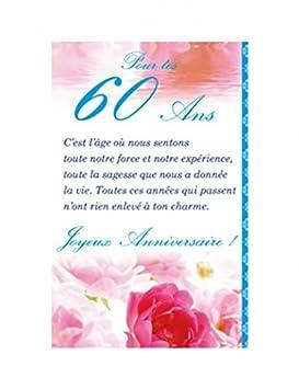 Tarjeta de cumpleaños, diseño de 60 años: Amazon.es ...