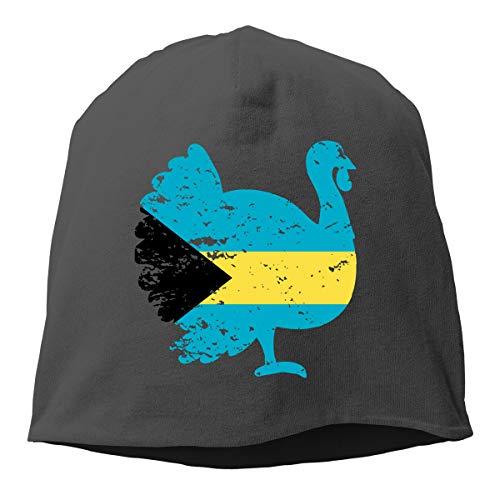 UI&PPQ54 Unisex Patriotic Turkey Bahamas Flag Slouchy Baggy Wool Beanies Hat Skull Caps