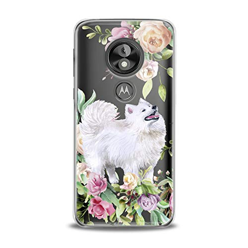 Lex Altern TPU Case for Motorola Moto G7 Power One P30 P40 Note G6 Z4 Awesome Floral Eskimo Dog Green Clear Silicone Animal White Cover Print Protective Lightweight Flexible Girl Transparent Present -