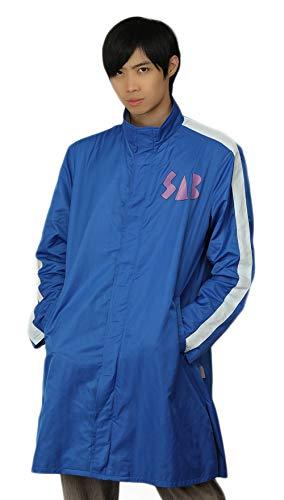 Newest Goku Costume Blue Vegeta Coat Super Saiyan Trench Halloween Cosplay Jacket L ()