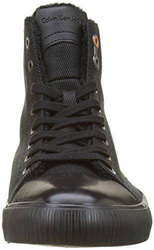 Calvin Fur Sneaker Black Klein Nero Twill Aron Waxy Uomo qwPv4T