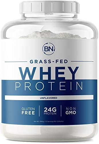 Grass Fed Whey Protein Powder – 100 Natural and Pure 24g High Protein – 5lb 72 Servings – Cold Processed – Non-GMO – rBGH-Free – High Quality from Wisconsin USA – Packaging May Vary