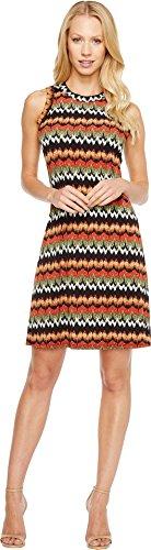Zig Zag Print Dress - 5