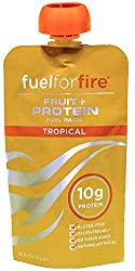 Fuel For Fire, Fruit + Whey Protein Snack, Sports Nutrition 4.5 ounce (Tropical, 12-Pack)
