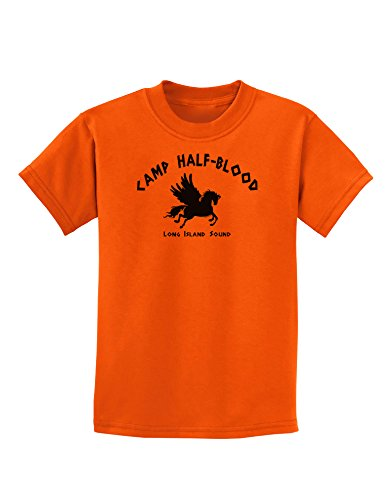 TooLoud Camp Half Blood Child Tee - Childrens T-Shirt - Orange - Large