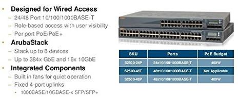 Amazon com: Aruba S2500-48P Mobility Access Switch With 48