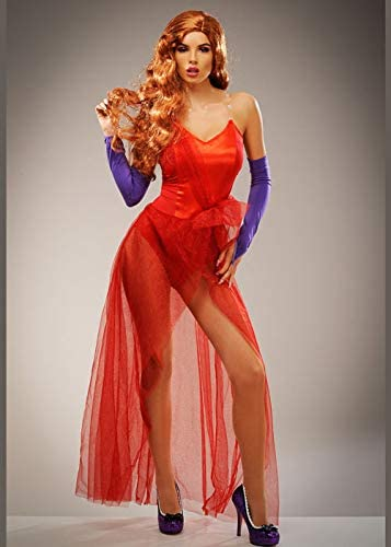 Magic Box Traje de Bomba roja Estilo Jessica Rabbit para Mujer ...