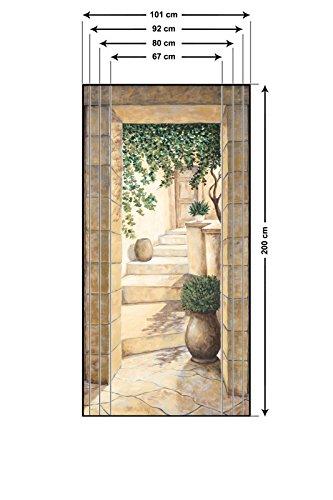 Artland Türbilder Selbstklebend Aus Vliesstoff Oder Vinyl Folie Andres  Eingang   Fresco Architektur Fenster U0026