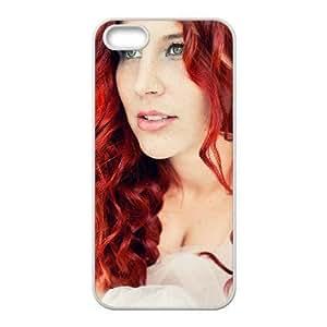 Charlotte Wessels HERMOSAS funda iPhone DELAIN 5 5s funda del teléfono celular de cubierta blanca, el funda iPhone 5 5s casos funda blanca