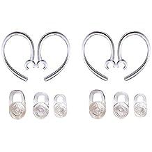 SET 6pcs SML Earbuds 4pcs Good Earhooks for Plantronics Voyager Edge Mobile Bluetooth Wireless Headset Earloops Earclips Small Medium Large Eargels Eartips Ear Hook Loop Clip Bud Gel