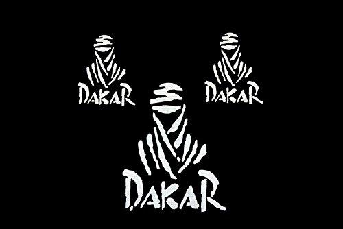 Set de dé calques Dakar Blanc Moto Discovery
