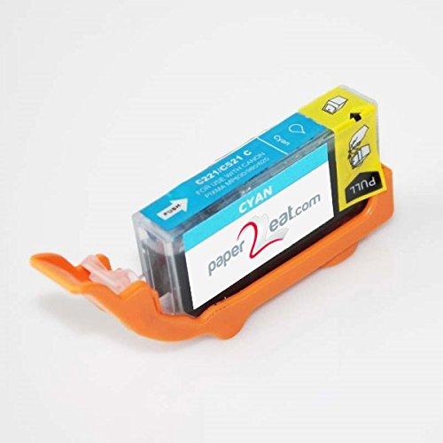 Premium Edible Ink Cartridge CLI-221C cyan for Canon Printers (e.g. iP3600) ()