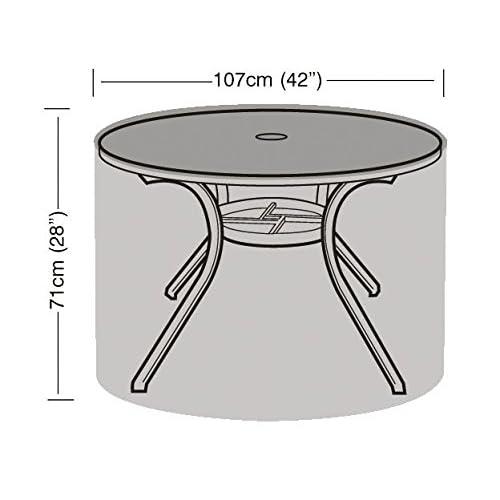 HBCOLLECTION - Housse pour table ronde de jardin 107cm gamme ...