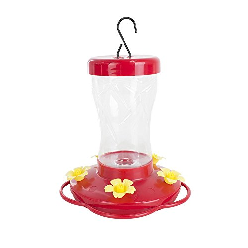 Squirrel Flowers Proof (BLUE BEAGLE 16 ounce Hummingbird Feeder, Bird Feeders with 5 Feeding Stations for Outside)